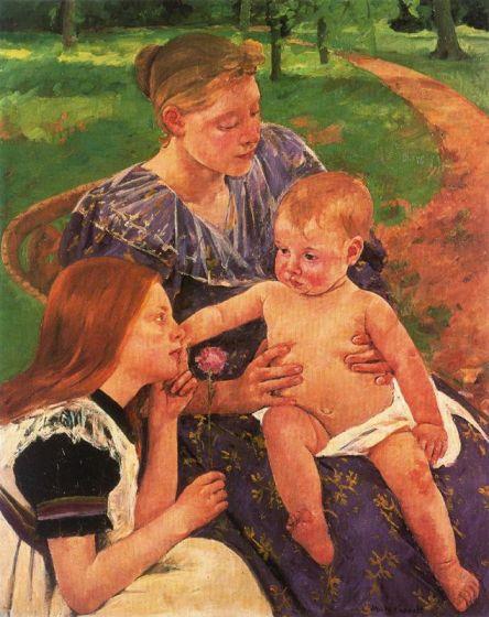 Madre e Hijas en el Jardín de Marie Cassatt